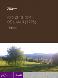 ouvrage - Constitution de l'an III (1795)