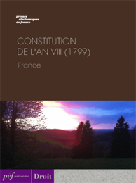 ebook ouvrage - Constitution de l'an VIII (1799)